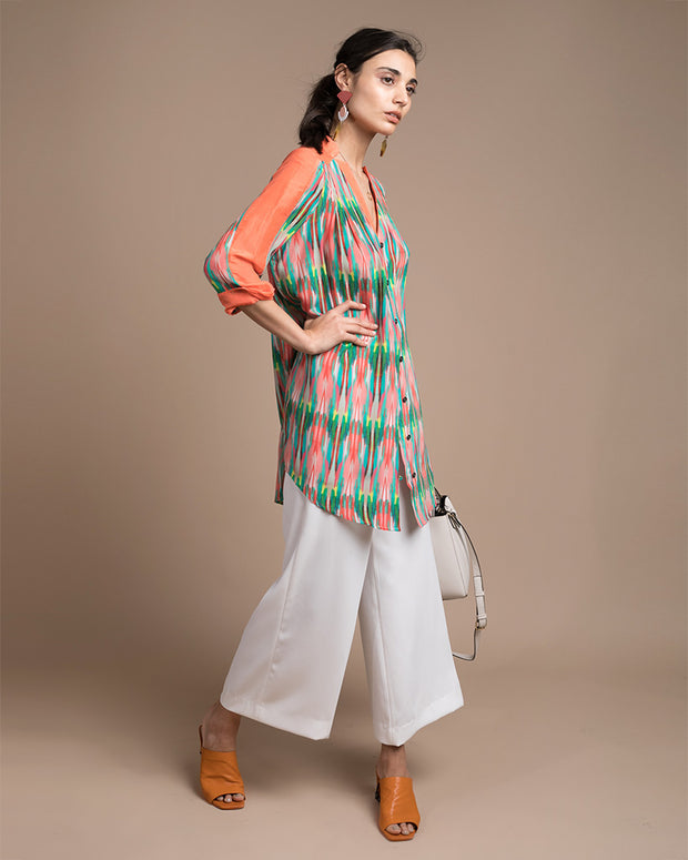 Kassia Printed Silk Top