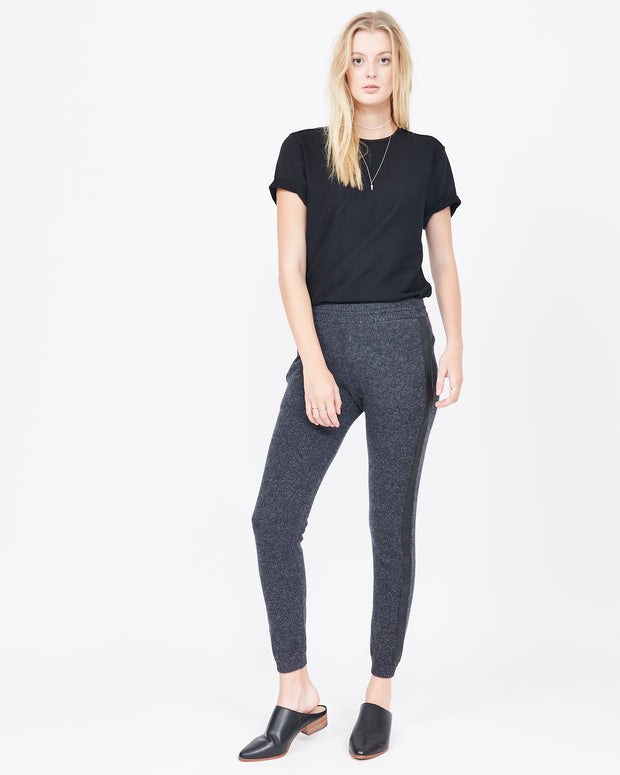 Carol Leather Stripe Sweatpant