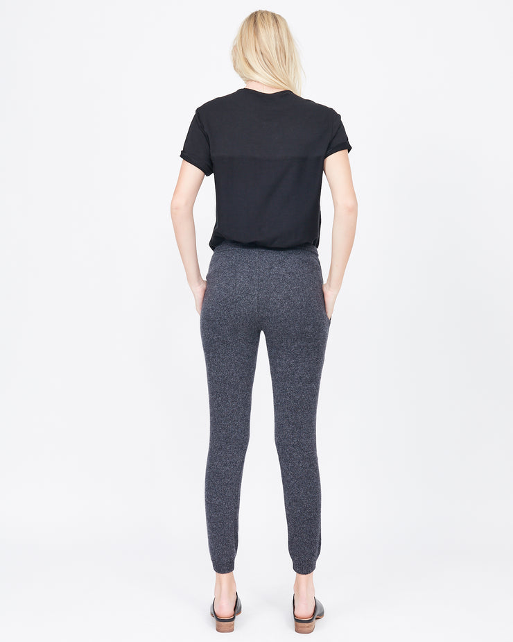 Carol Leather Stripe Cashmere Jogger