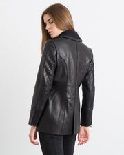 Janet Bonded Leather Coat