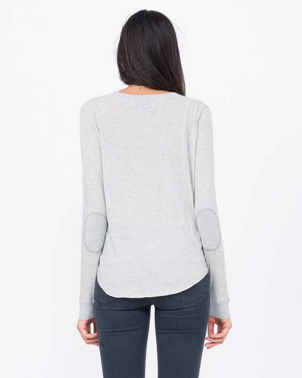 Lucille Knit Jersey with Cashmere Elbow Pads