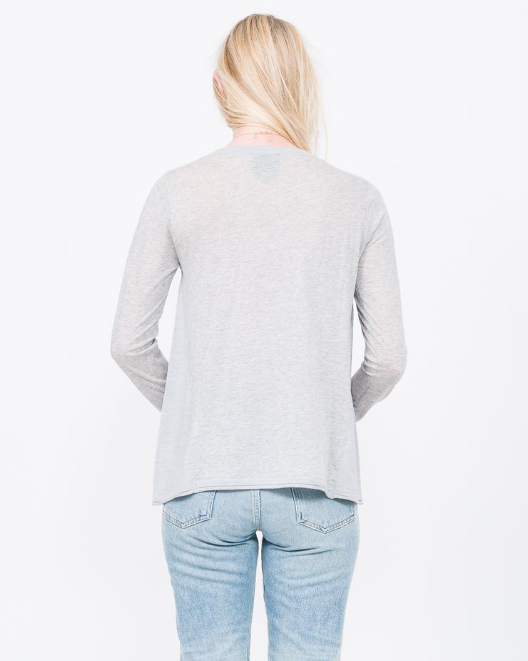 heather grey v neck for women