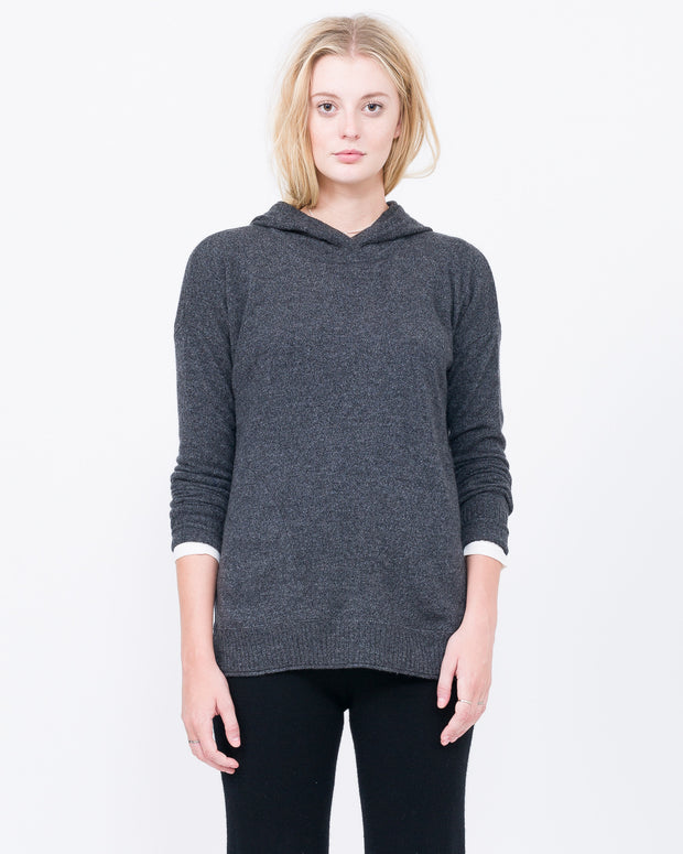 Dark Grey Sweater with Hood