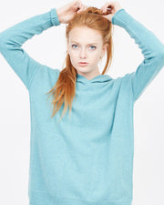 Teal Hoodie with pockets