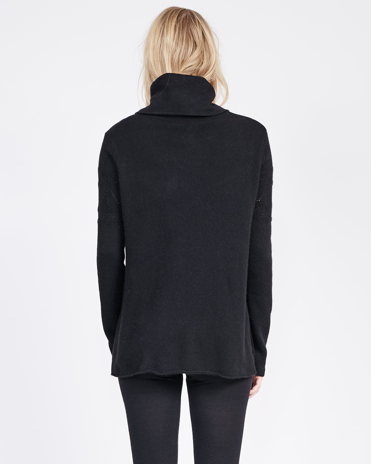 Detailed Stitch Funnel Neck