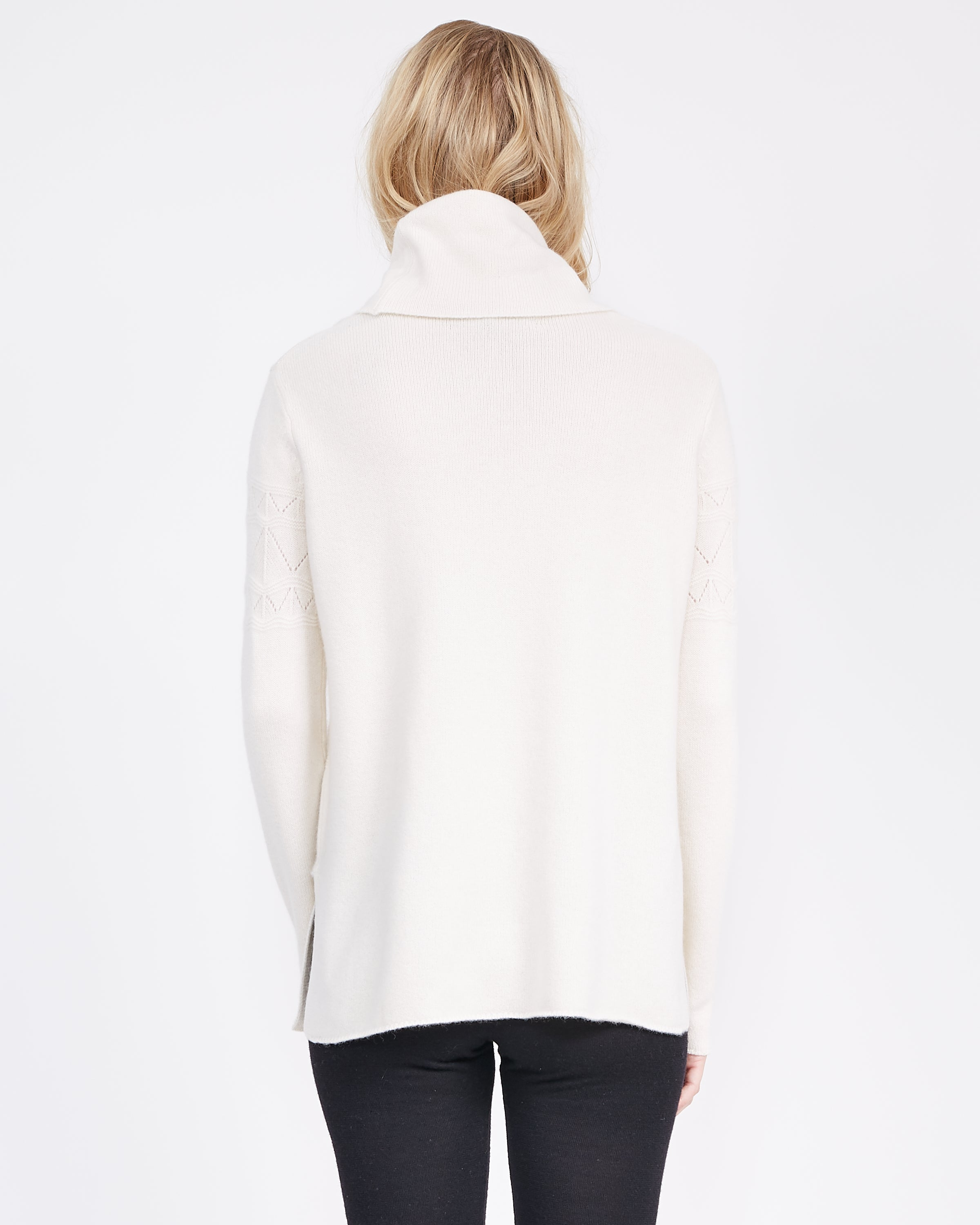 dropped shoulder cashmere sweater