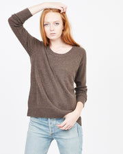 Open neck casual everyday sweatshirt