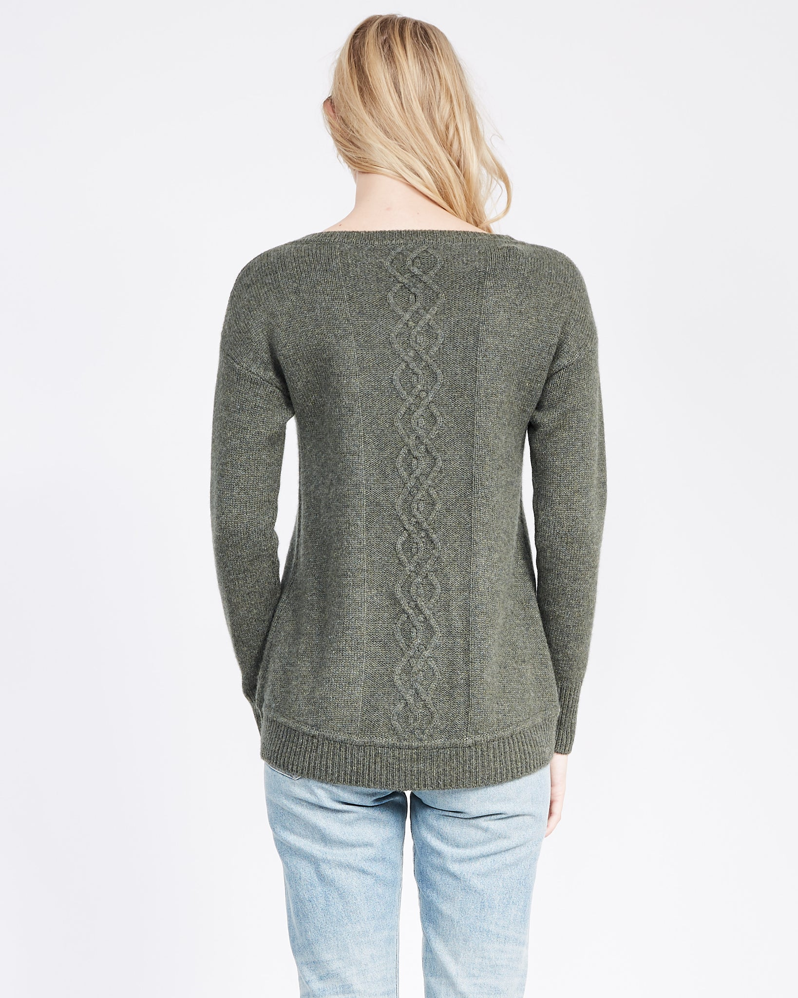 cable stitch detail sweater