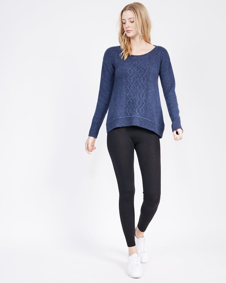 HiLow Knit Top with cable detail