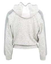 Anka Cashmere Intarsia Zip Up