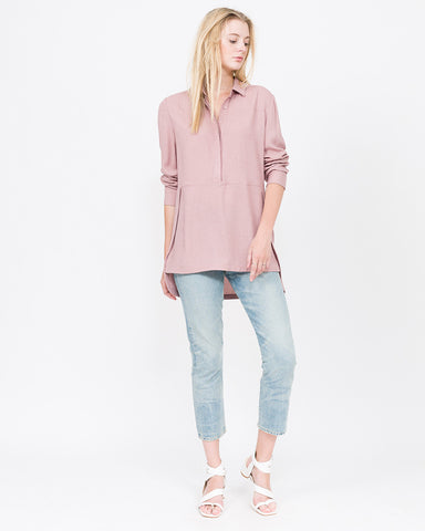 Alula Textured Tunic Button Up