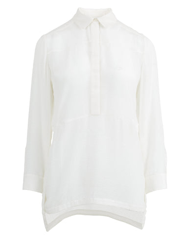 Alula Ribbed Tunic Button Up