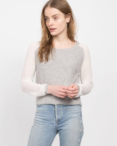 Ela Rib Paneled Raglan Sweater