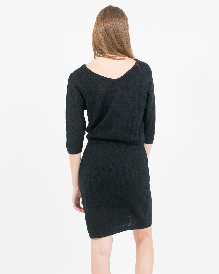 little black cashmere dress essential