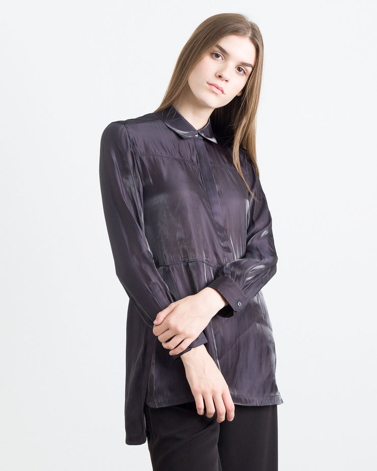 Megan Holographic Tunic