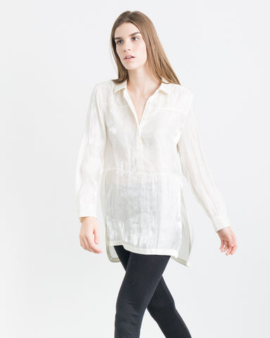 Alula Holographic Tunic Button Up