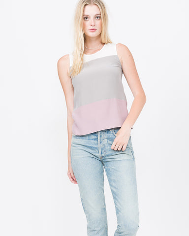 Ellen Paneled Color Block Tank