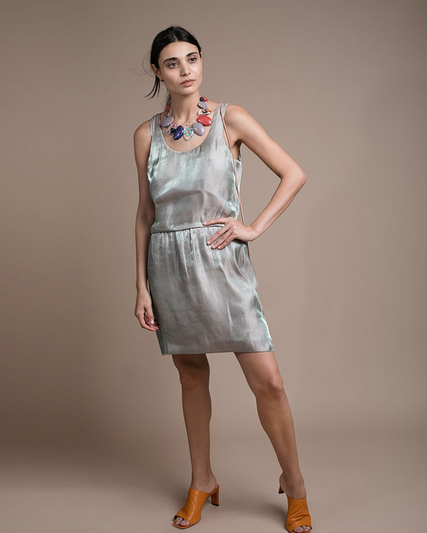 Rena Blouson Scoop Neck Dress