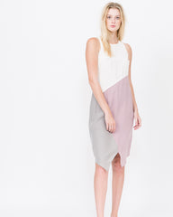 Lee Color Blocked Geometric Dress