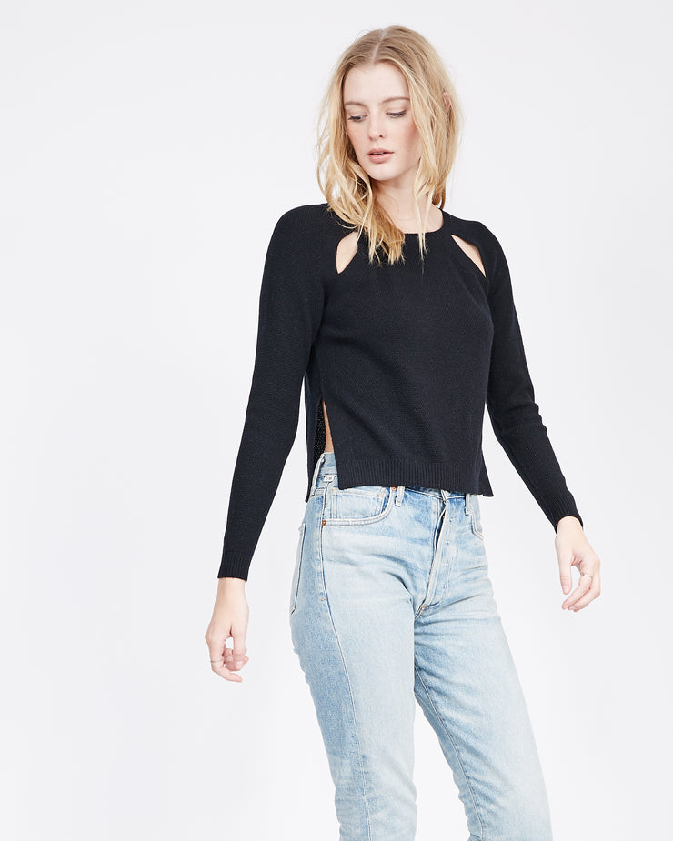 Amy Cut-Out Raglan Cashmere Sweater