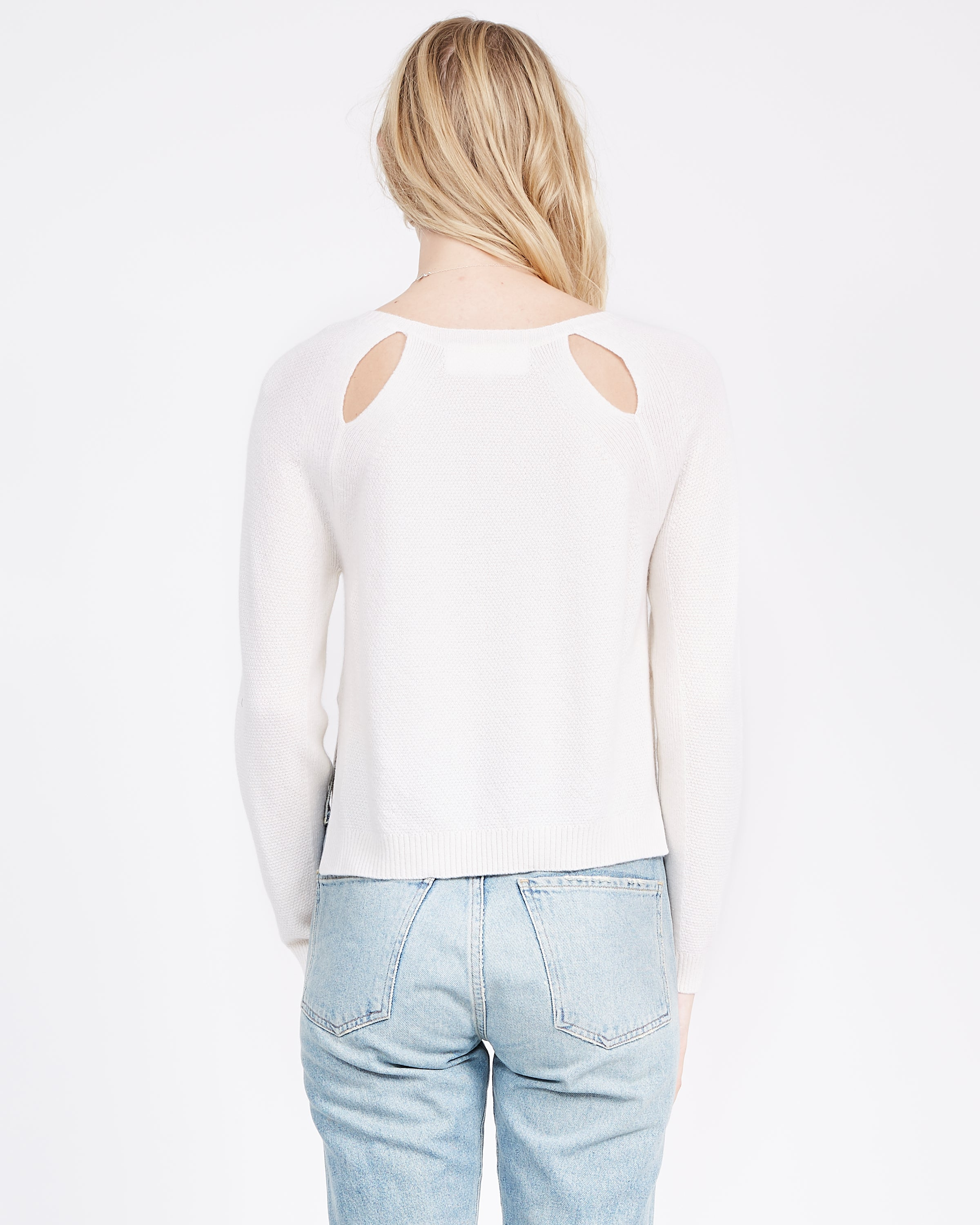 Amy Cut-Out Raglan Sweater