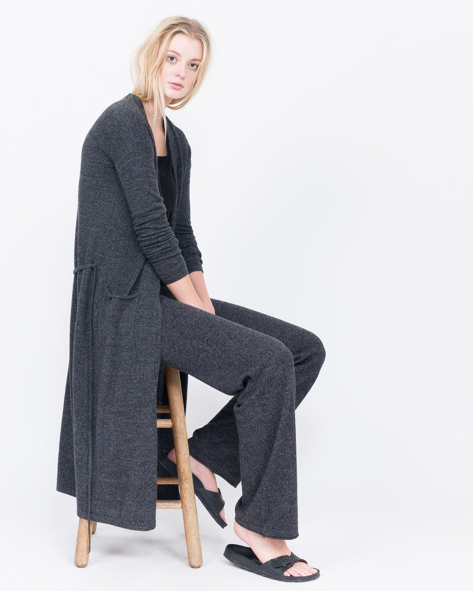 long cardigan with tie