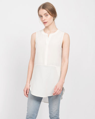 Chanin Shirt Tail Henley Tank