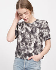 Willie Printed Pleated Back Tee