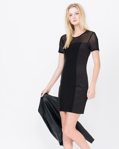 Winslow Half Sleeve Paneled Body Con Dress