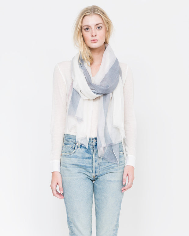 light cashmere stripe scarf