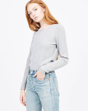 women's basic cashmere crew neck sweater