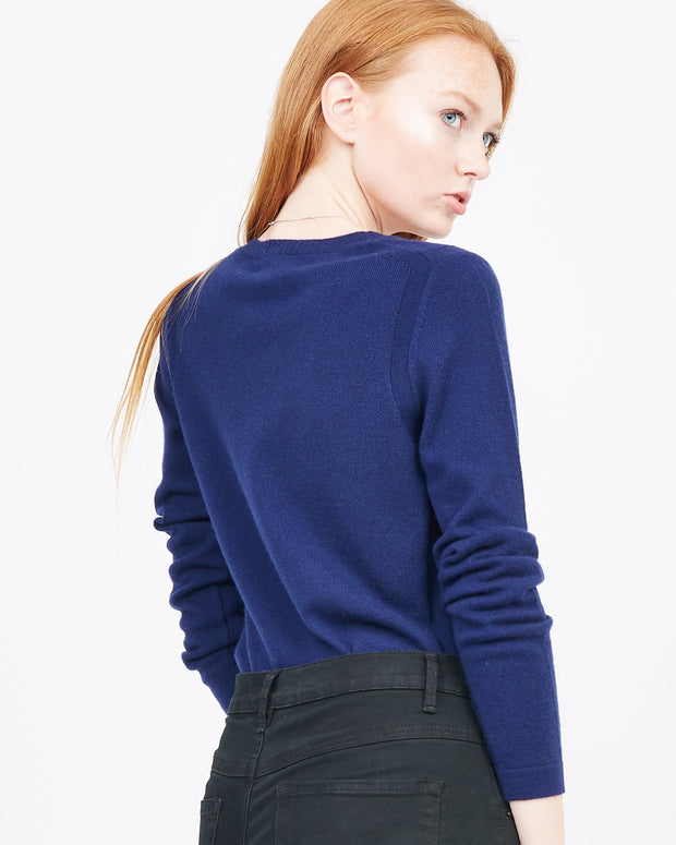 Women's navy winter sweater
