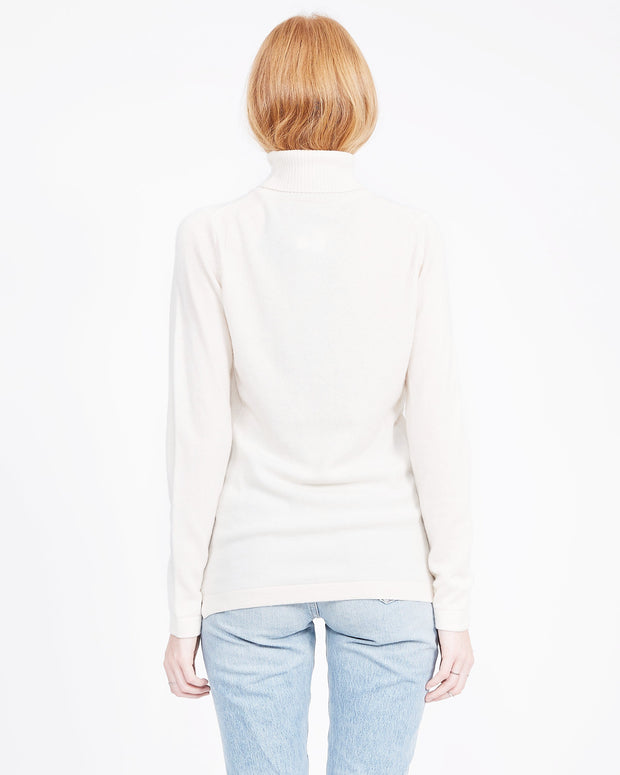ivory cashmere turtle neck