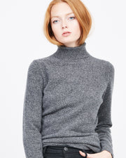 mock neck cashmere sweater