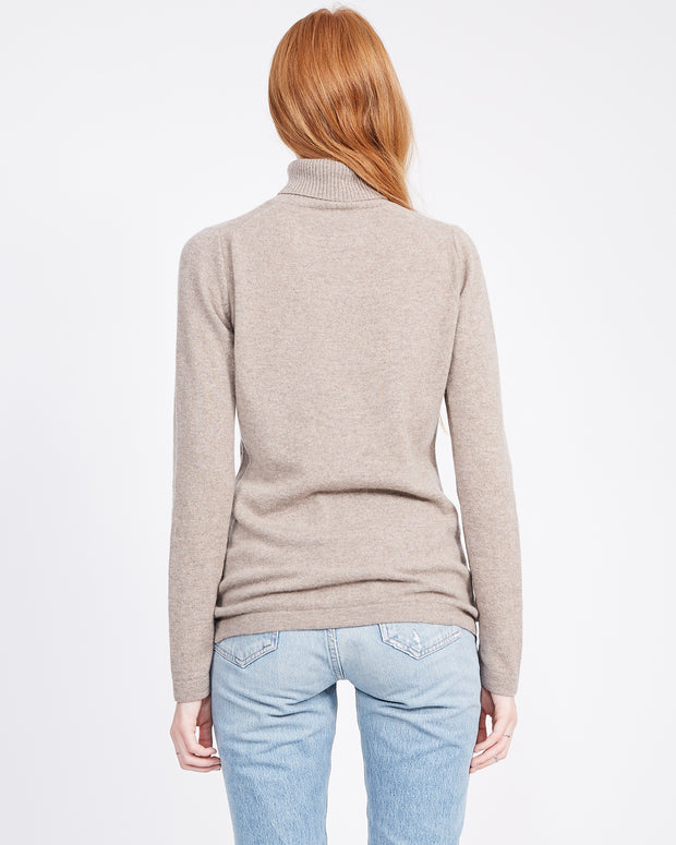 sustainable cashmere turtleneck sweater