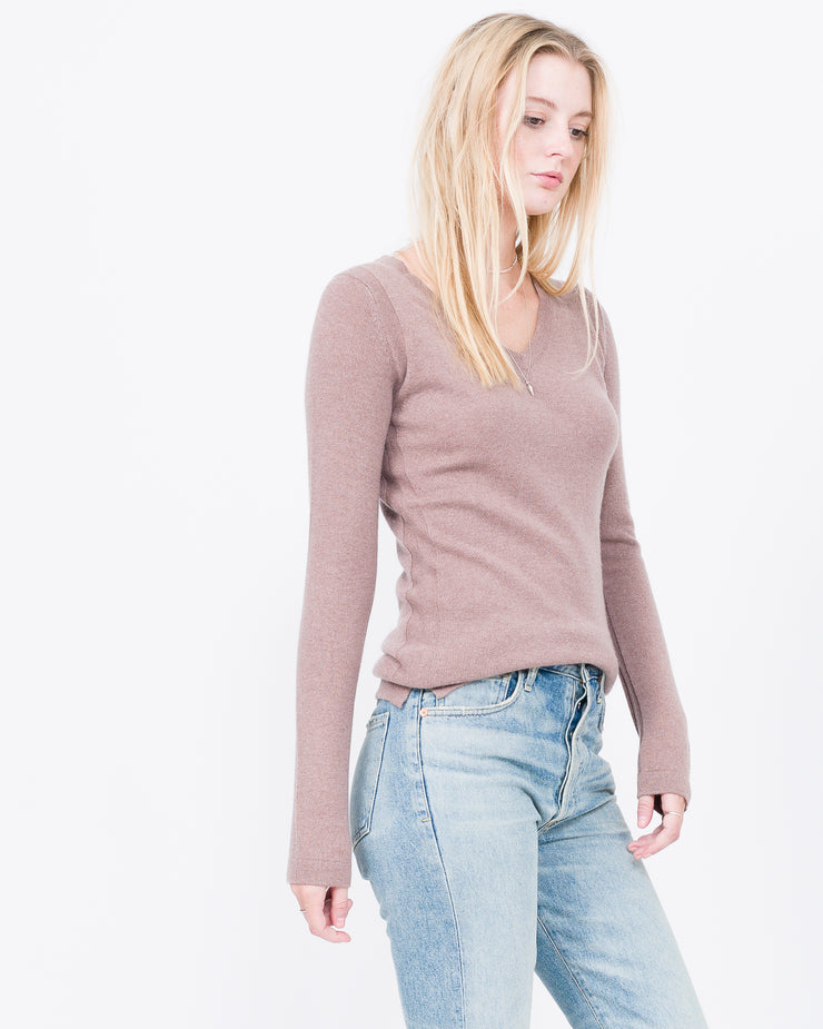 most flattering v neck sweater