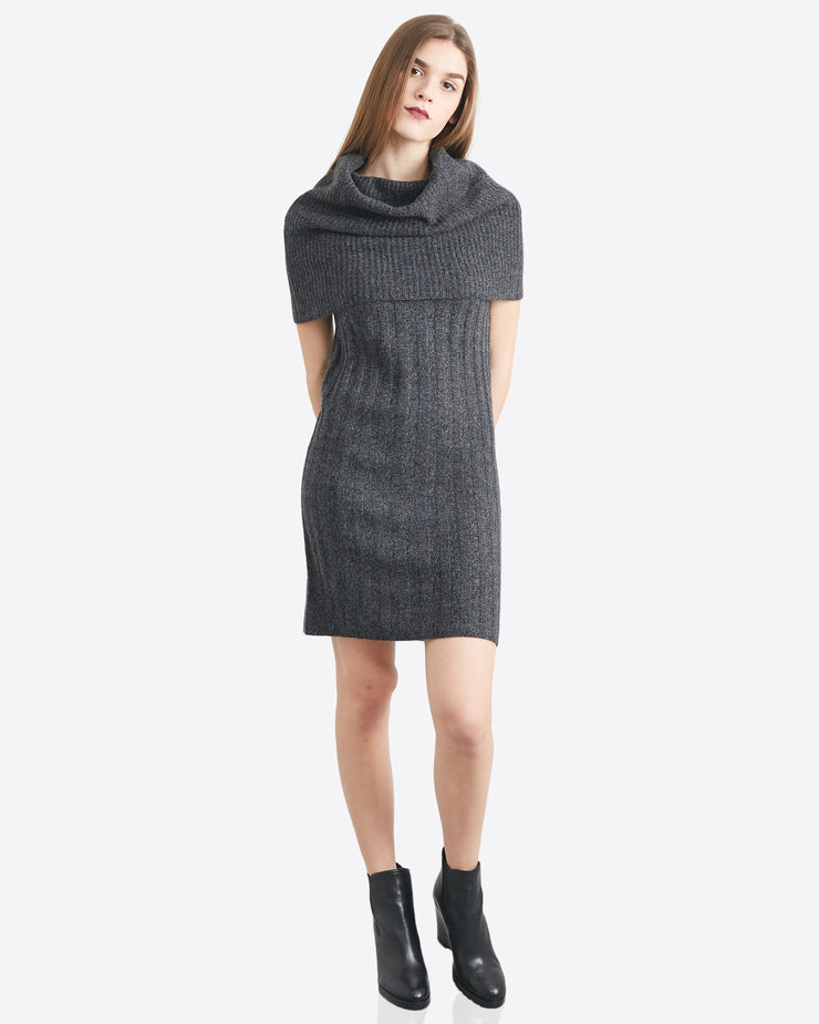 Rose Over the Shoulder Sweater Dress