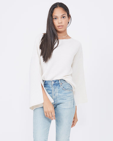 Thirtyfour Slash Neck Bell Sleeve