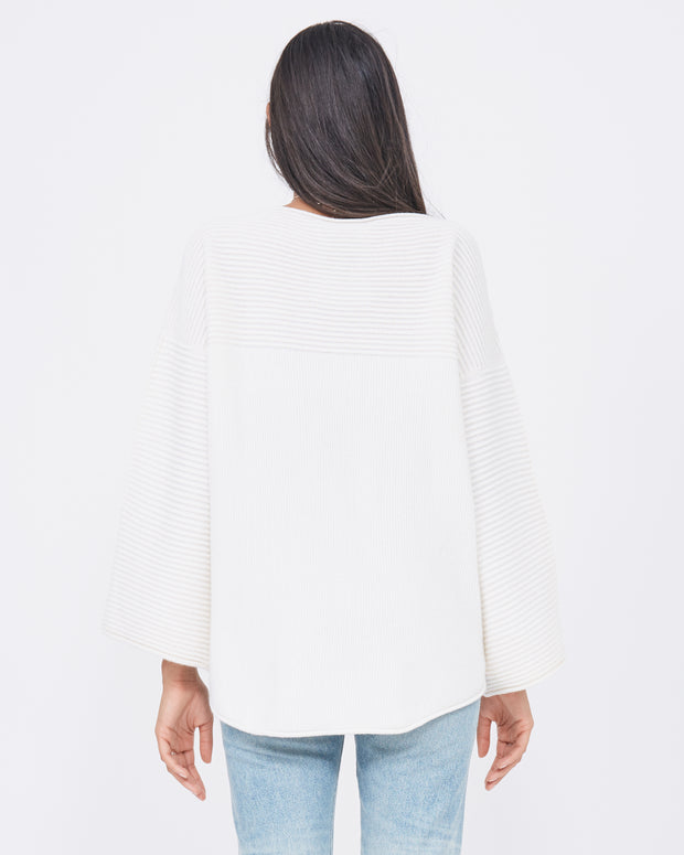 flared sleeve cashmere sweater