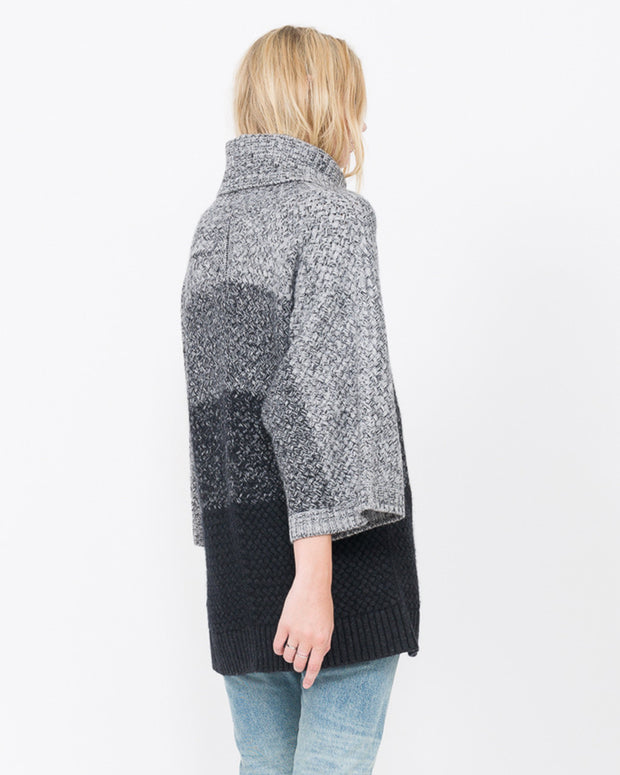 women's cashmere poncho sweater