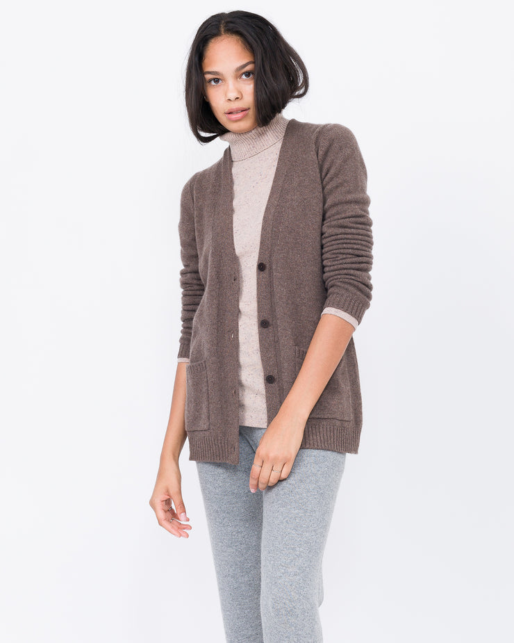 heather brown cardigan