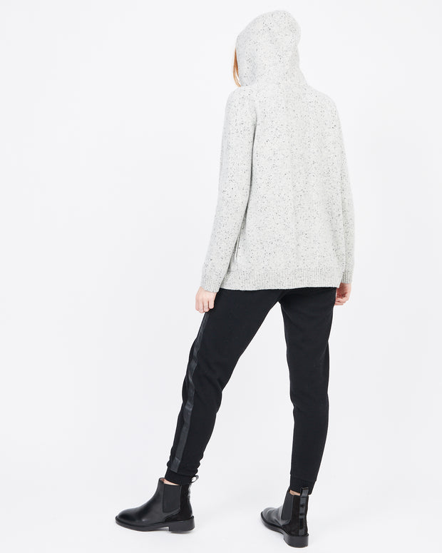 Women's cashmere zip up hoody