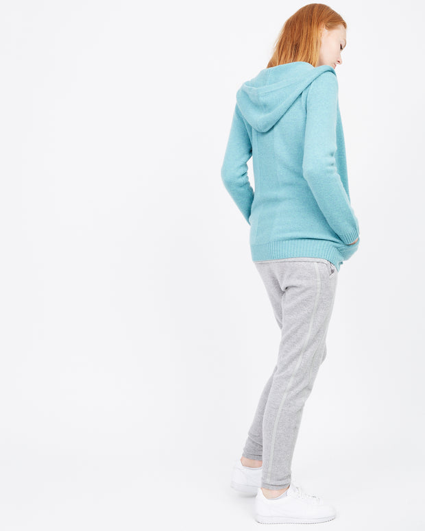 Jade Cashmere Zip Up Sweater