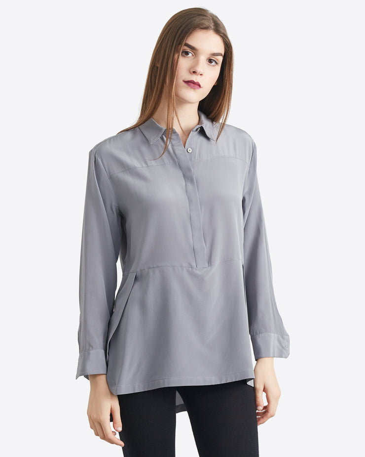 Cynthia Paneled Button Up