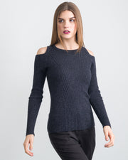 Fleur Cut-Out Shoulder Pullover