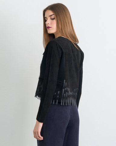 Flora Embellished Cropped Jacket