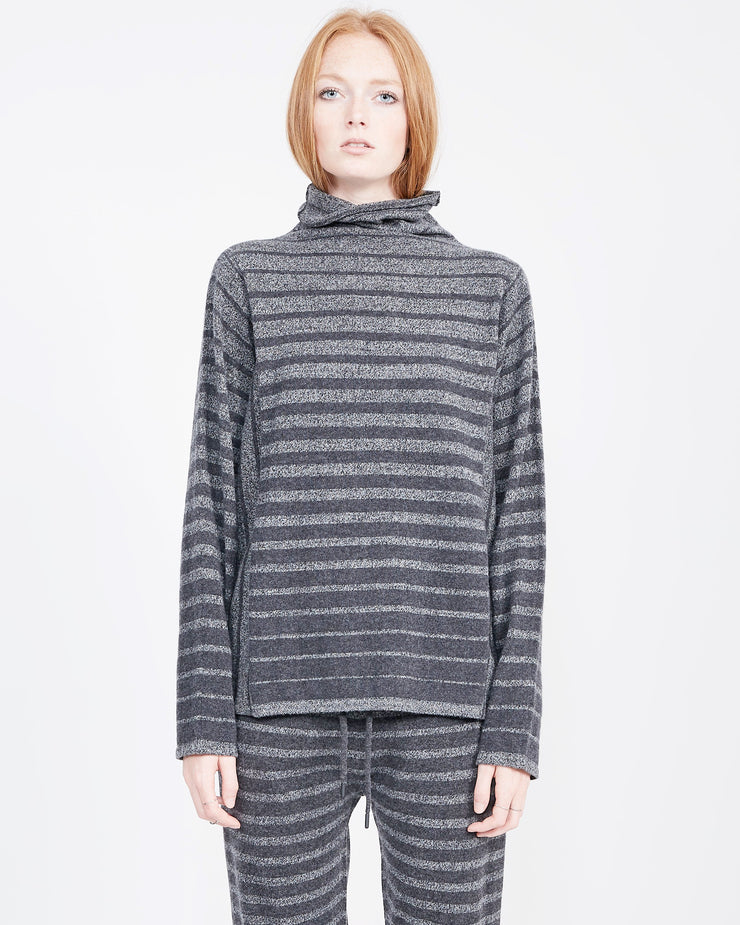 Women's Striped Mock Neck