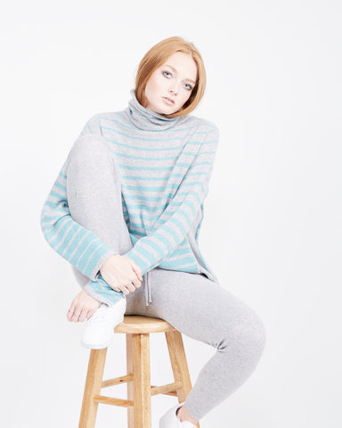 Taylor Striped Funnel Neck