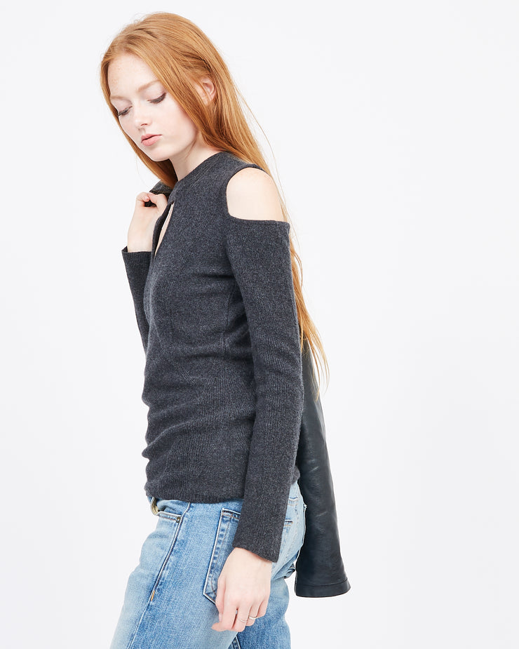 Multi-stitch cashmere sweater