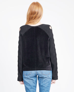 women's black cashmere sweatshirt